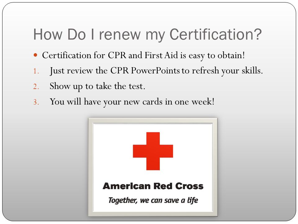 How Do I renew my Certification