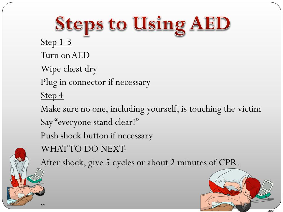 Steps to Using AED