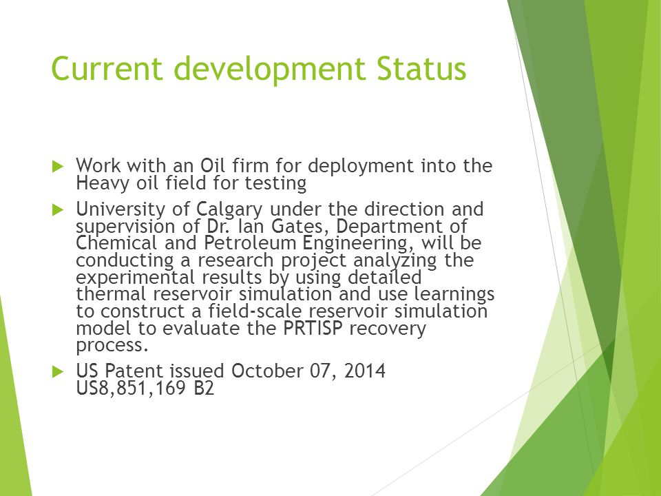 Current development Status