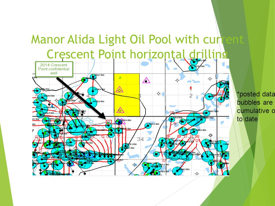 Manor Alida Light Oil Pool with current Crescent Point horizontal drilling