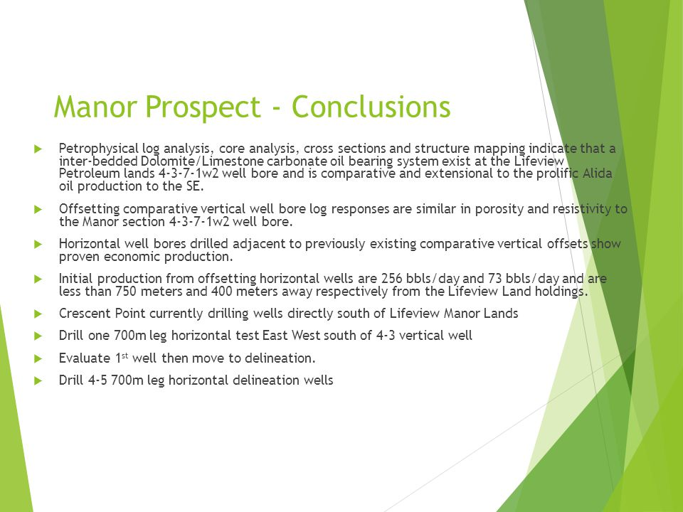 Manor Prospect - Conclusions