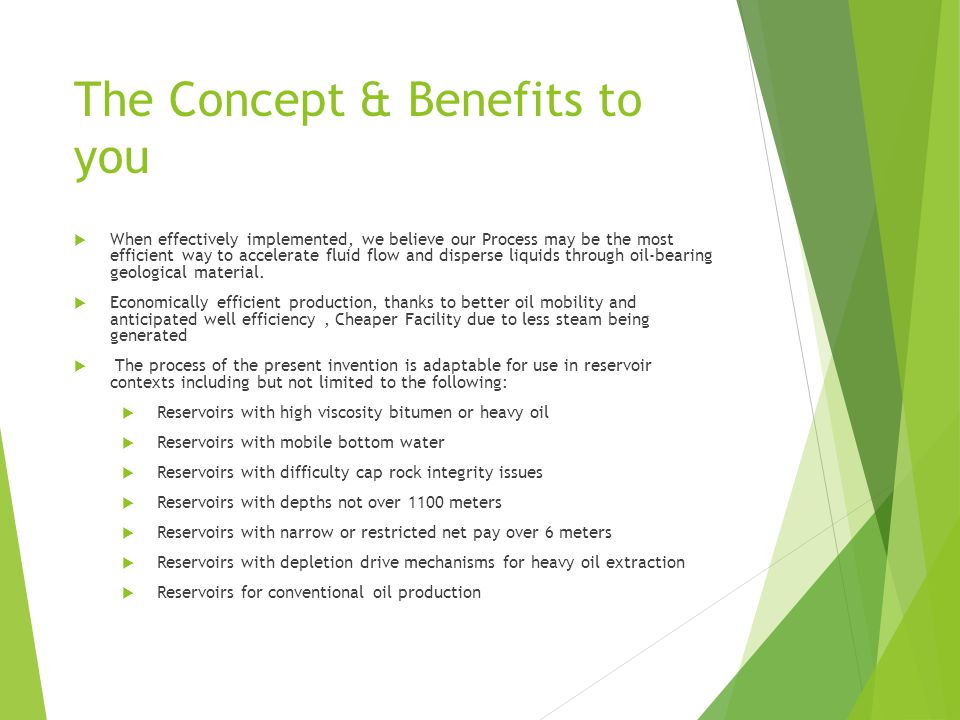 The Concept & Benefits to you