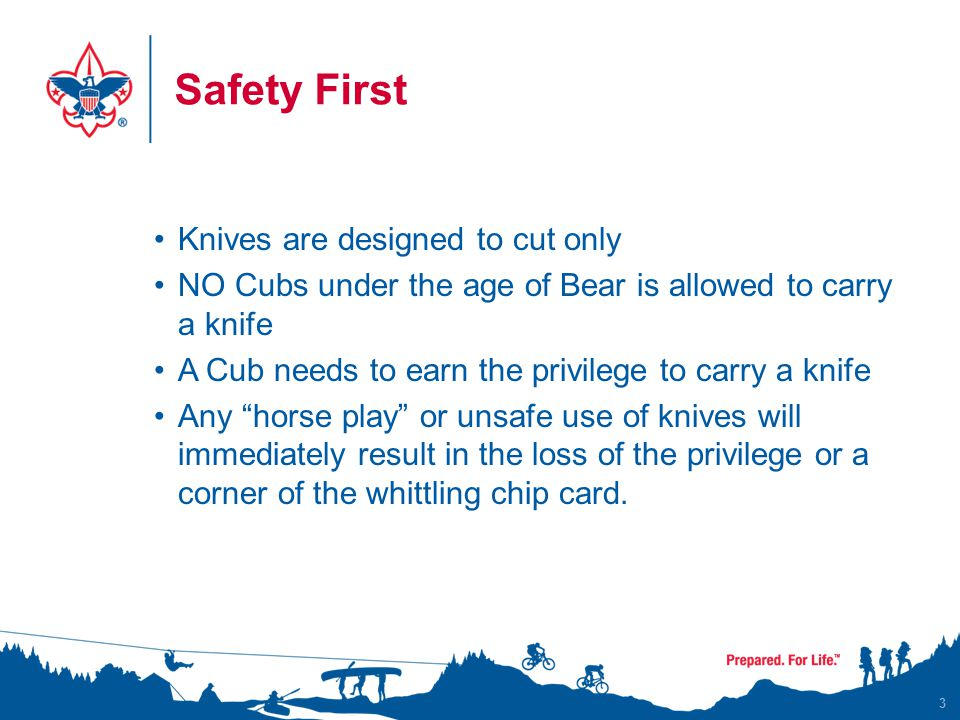 Safety First Knives are designed to cut only