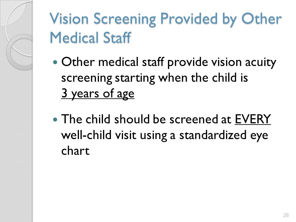 Vision Screening Provided by Other Medical Staff