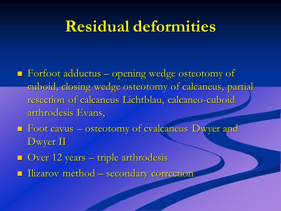 Residual deformities