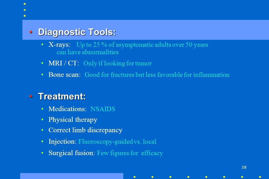 Diagnostic Tools: Treatment: