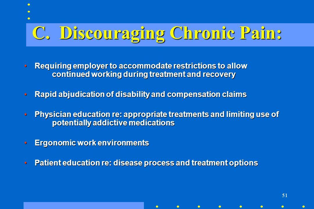 C. Discouraging Chronic Pain: