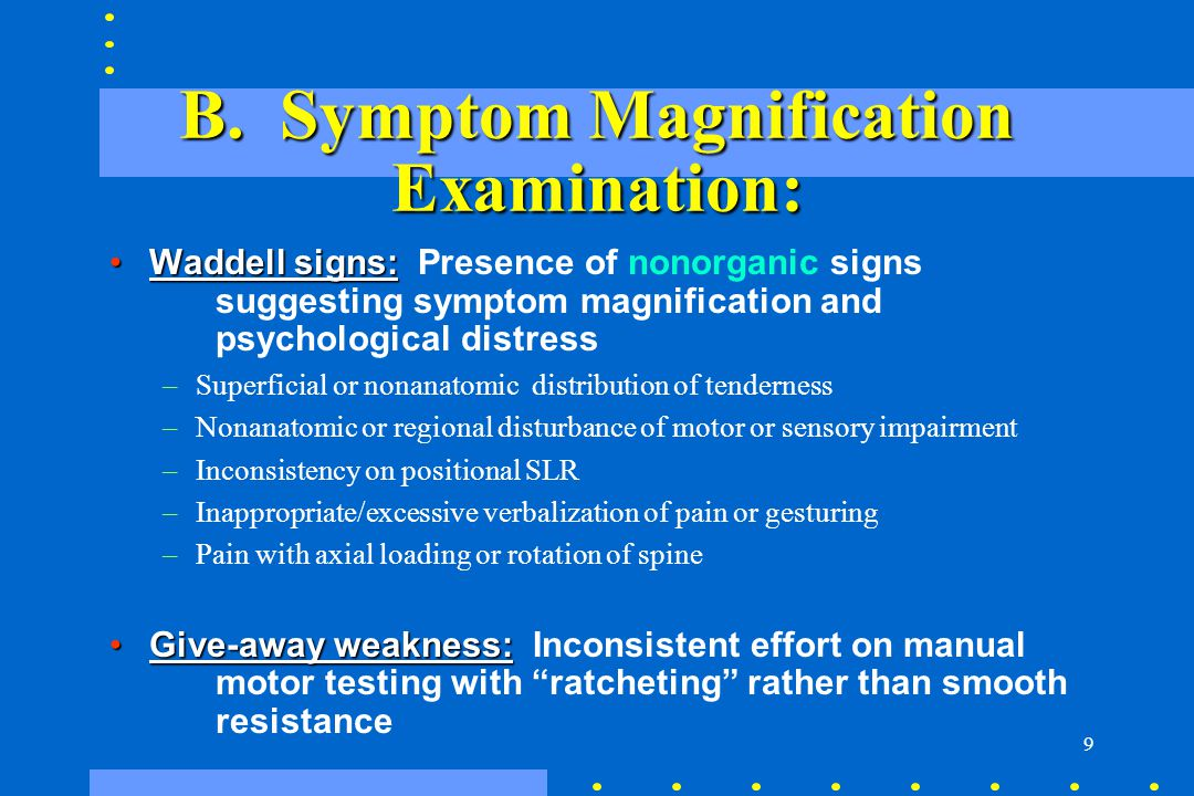 B. Symptom Magnification Examination: