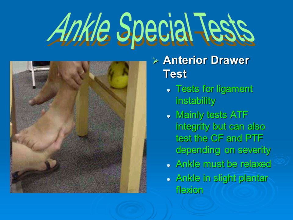 Ankle Special Tests Anterior Drawer Test