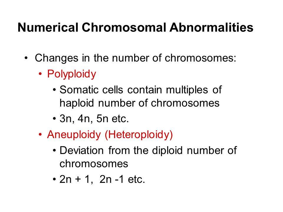 Numerical Chromosomal Abnormalities