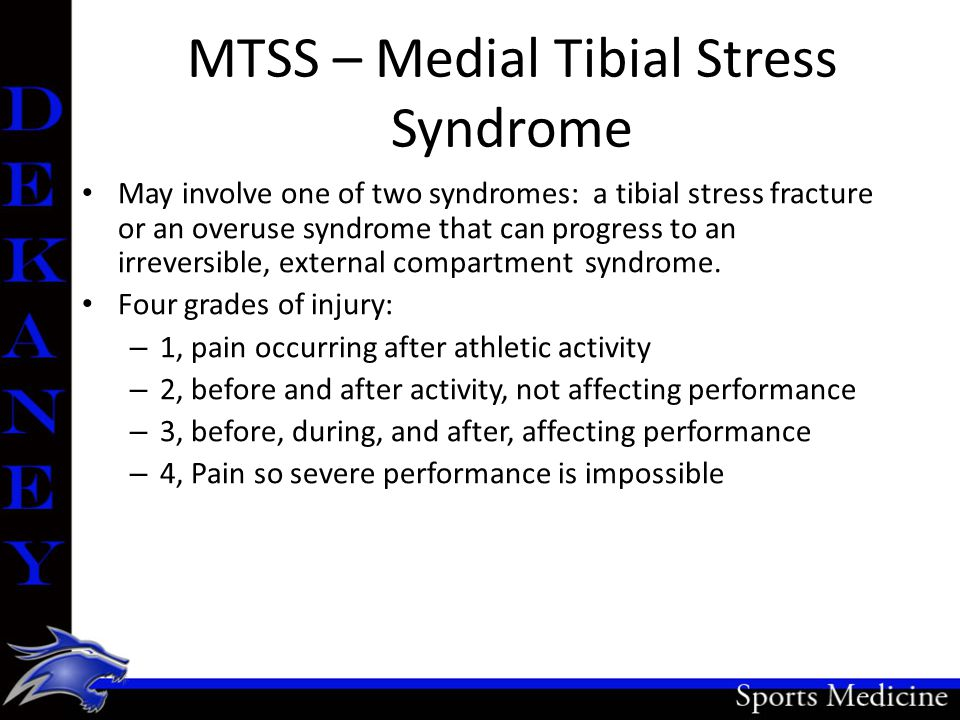 MTSS – Medial Tibial Stress Syndrome