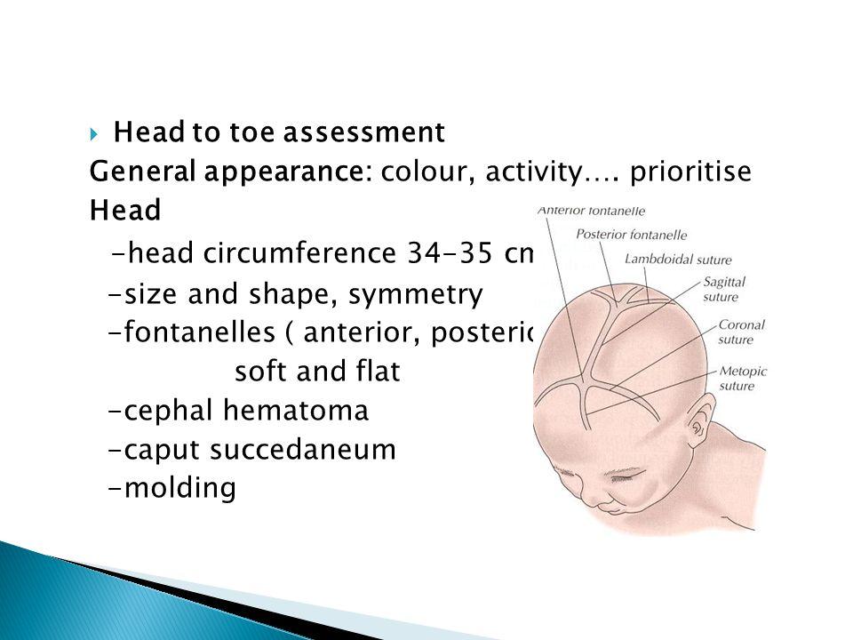 -head circumference 34-35 cms