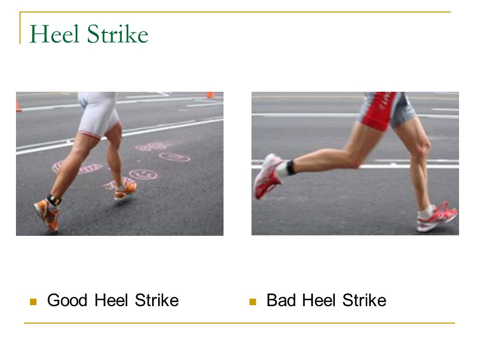 Heel Strike Good Heel Strike Bad Heel Strike