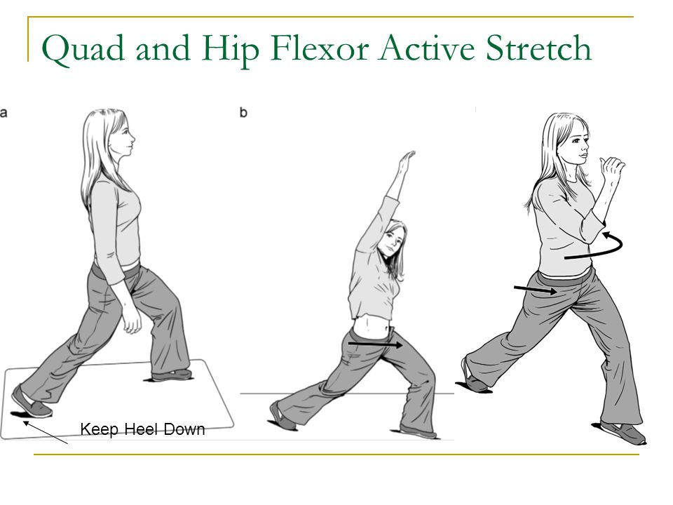 Quad and Hip Flexor Active Stretch