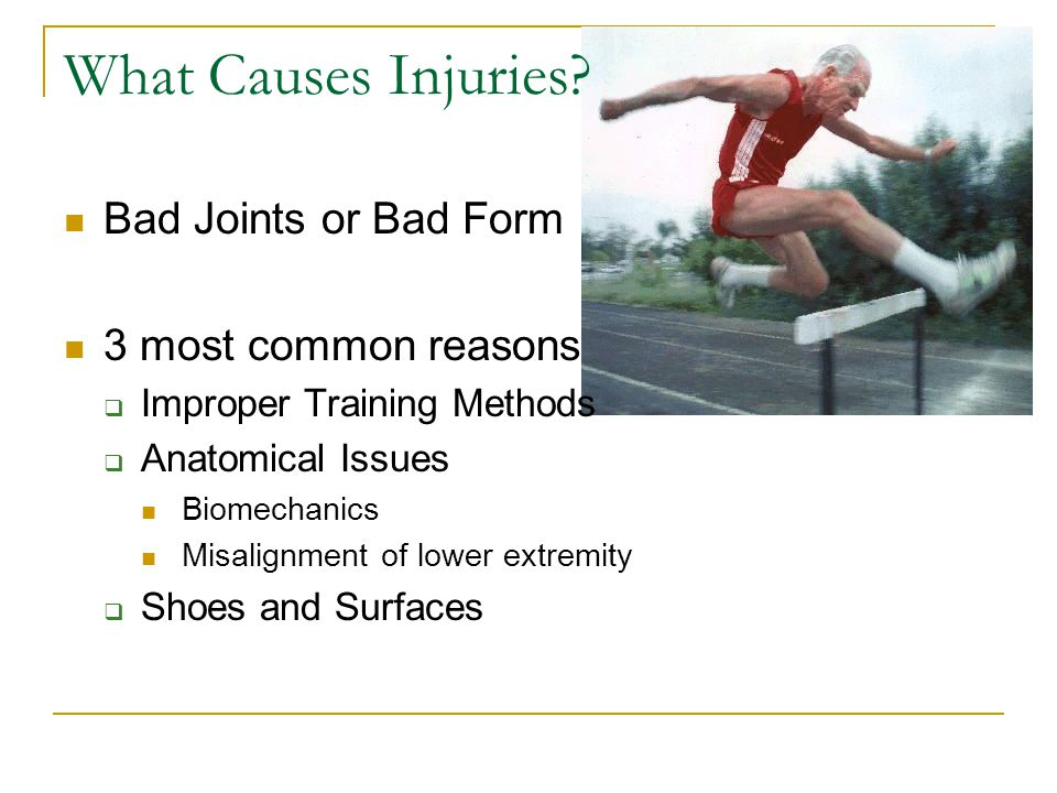 What Causes Injuries Bad Joints or Bad Form 3 most common reasons