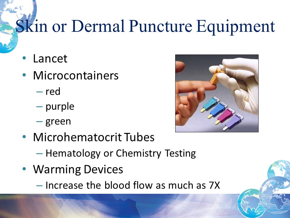 Skin or Dermal Puncture Equipment
