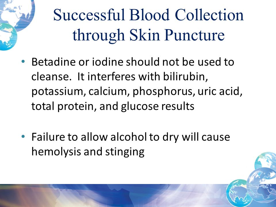 Successful Blood Collection through Skin Puncture