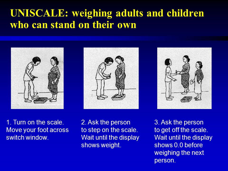 UNISCALE: weighing adults and children who can stand on their own
