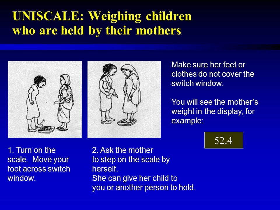 UNISCALE: Weighing children who are held by their mothers