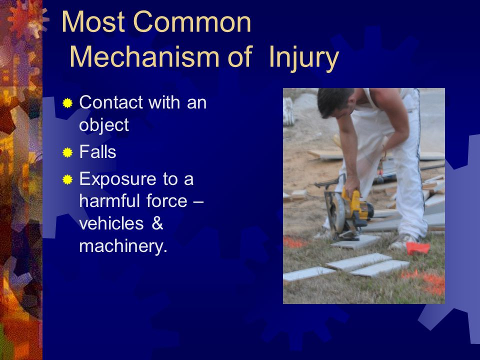 Most Common Mechanism of Injury