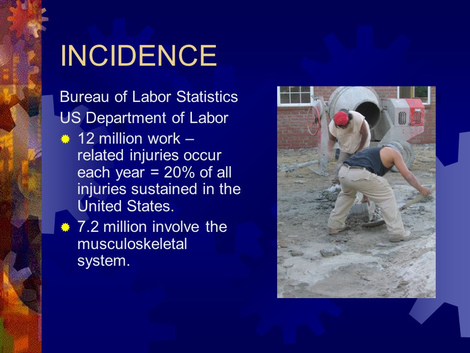 INCIDENCE Bureau of Labor Statistics US Department of Labor