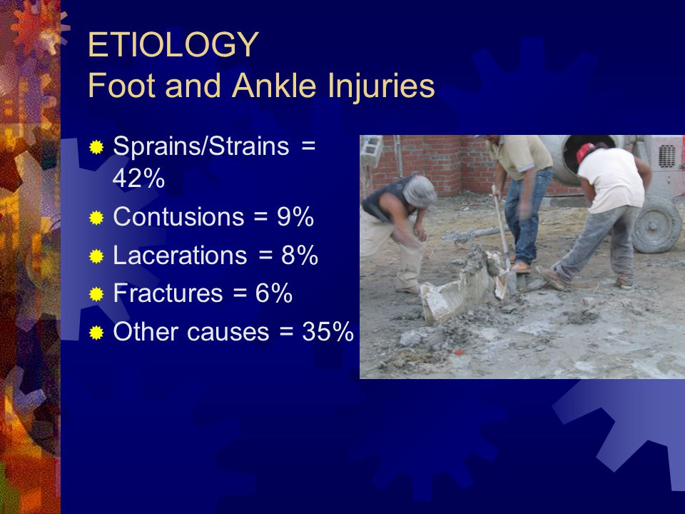 ETIOLOGY Foot and Ankle Injuries