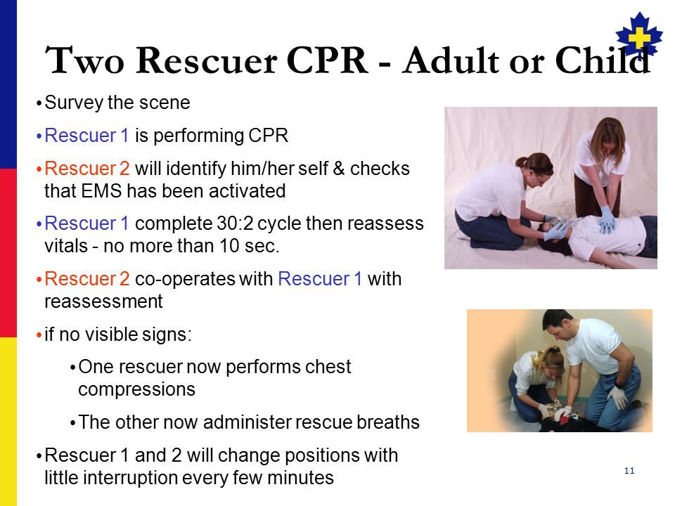 Two Rescuer CPR - Adult or Child