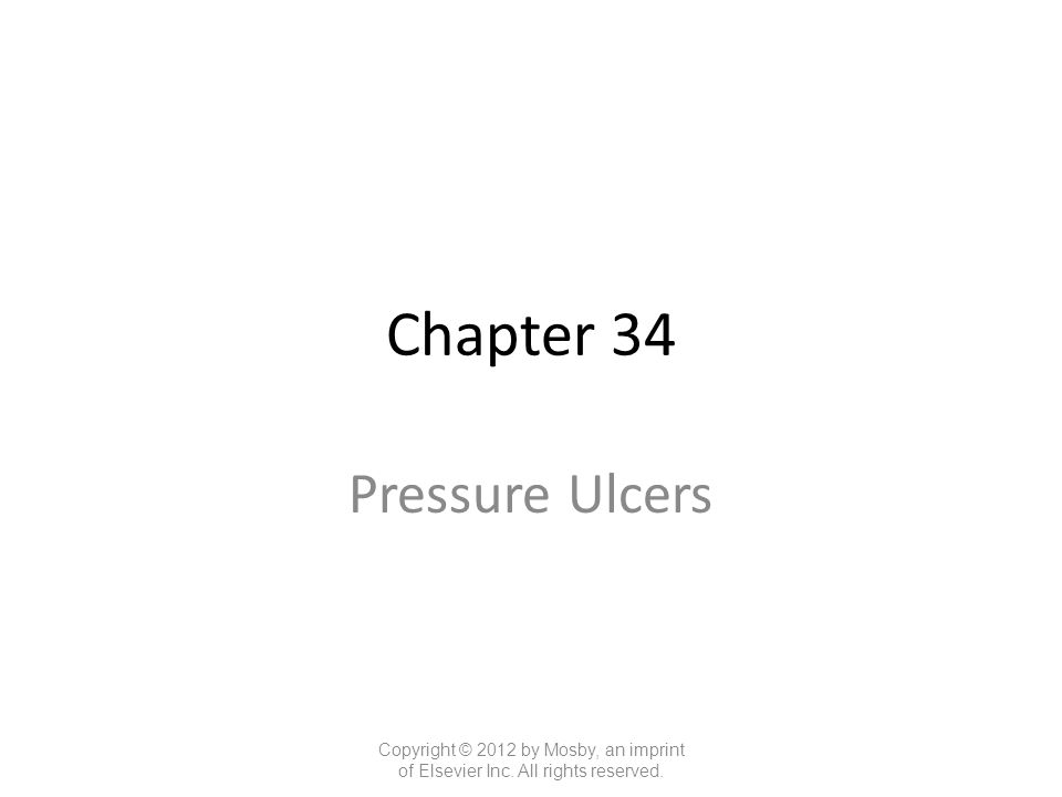 Chapter 34 Pressure Ulcers