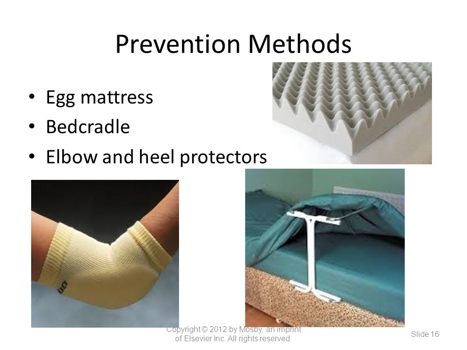 Prevention Methods Egg mattress Bedcradle Elbow and heel protectors