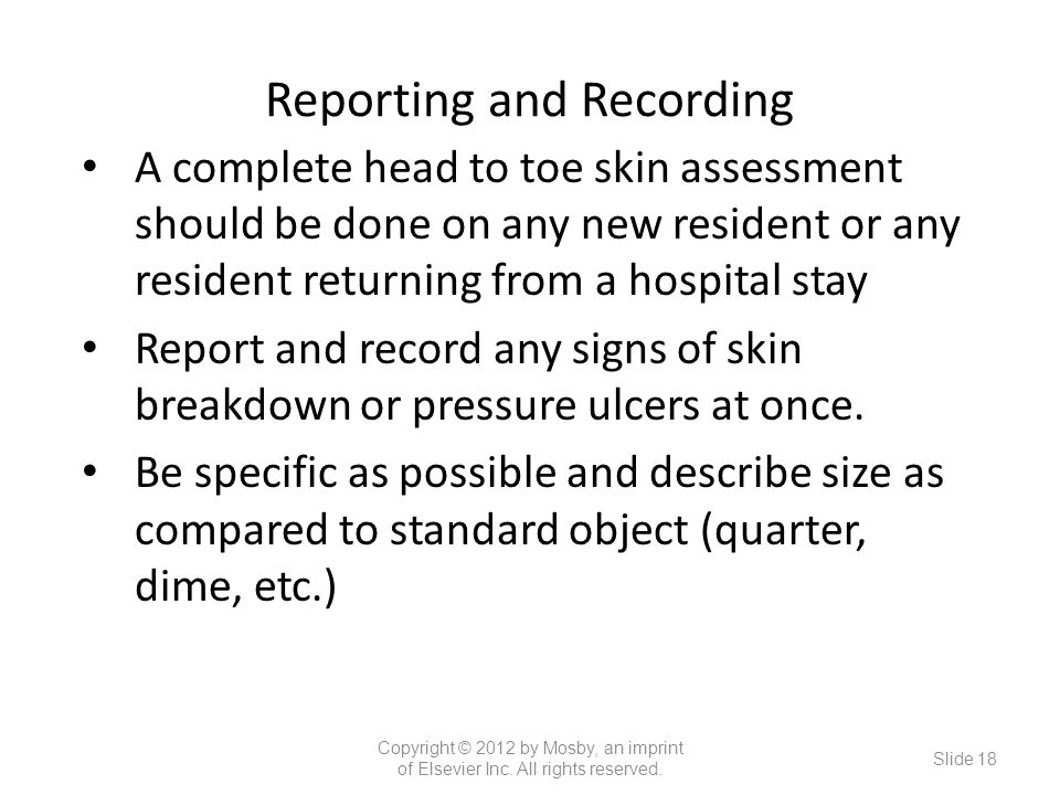Reporting and Recording