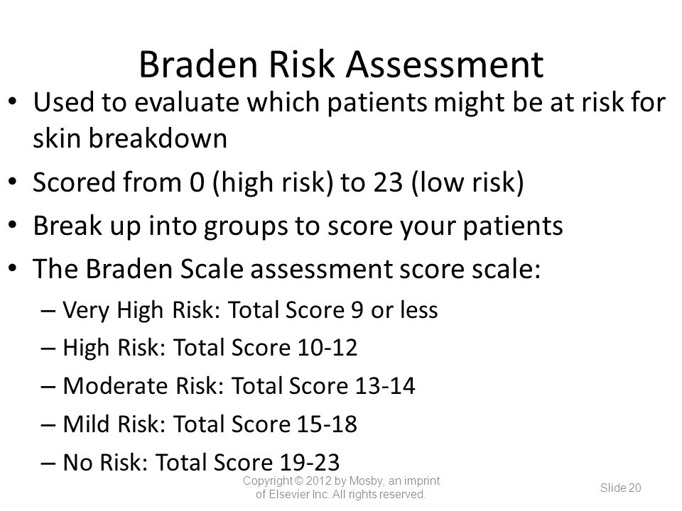 Braden Risk Assessment
