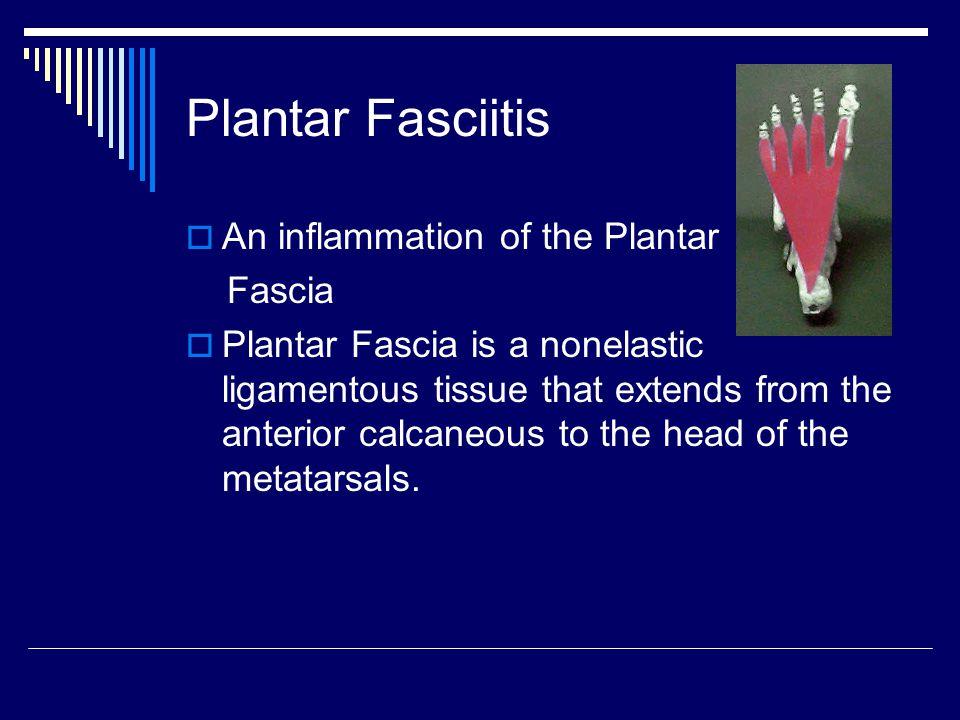 Plantar Fasciitis An inflammation of the Plantar Fascia