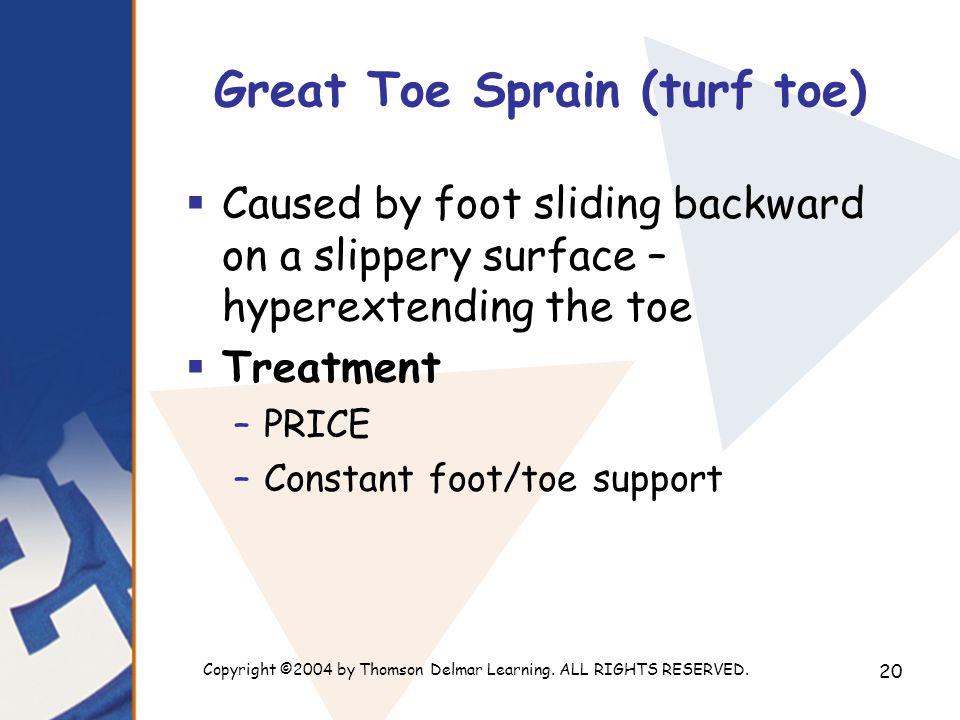 Great Toe Sprain (turf toe)