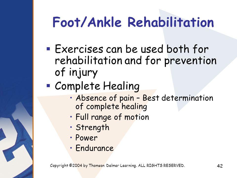 Foot/Ankle Rehabilitation
