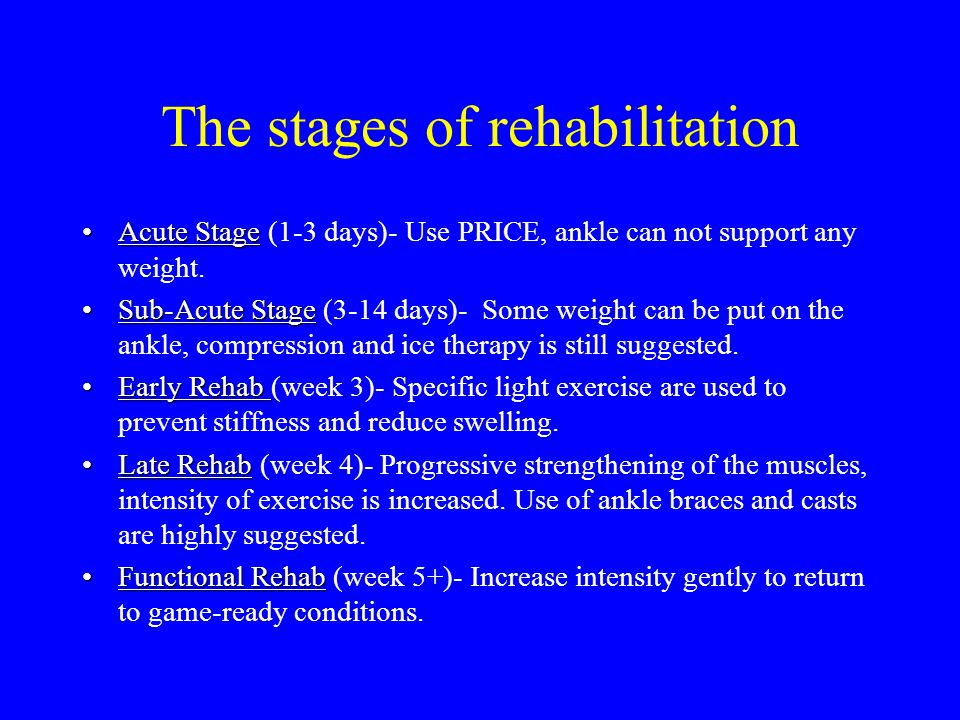The stages of rehabilitation