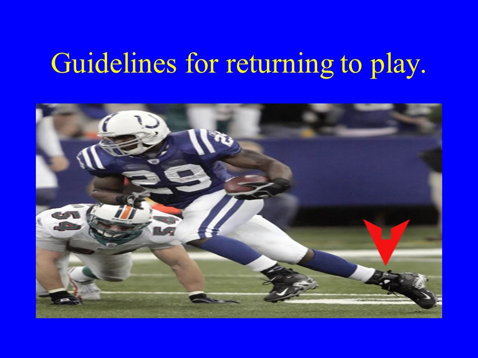 Guidelines for returning to play.