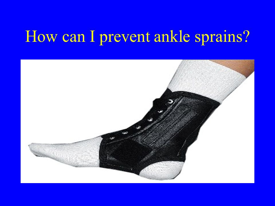How can I prevent ankle sprains