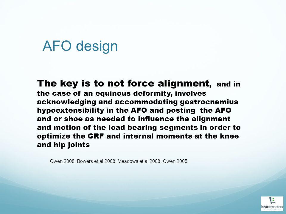 AFO design