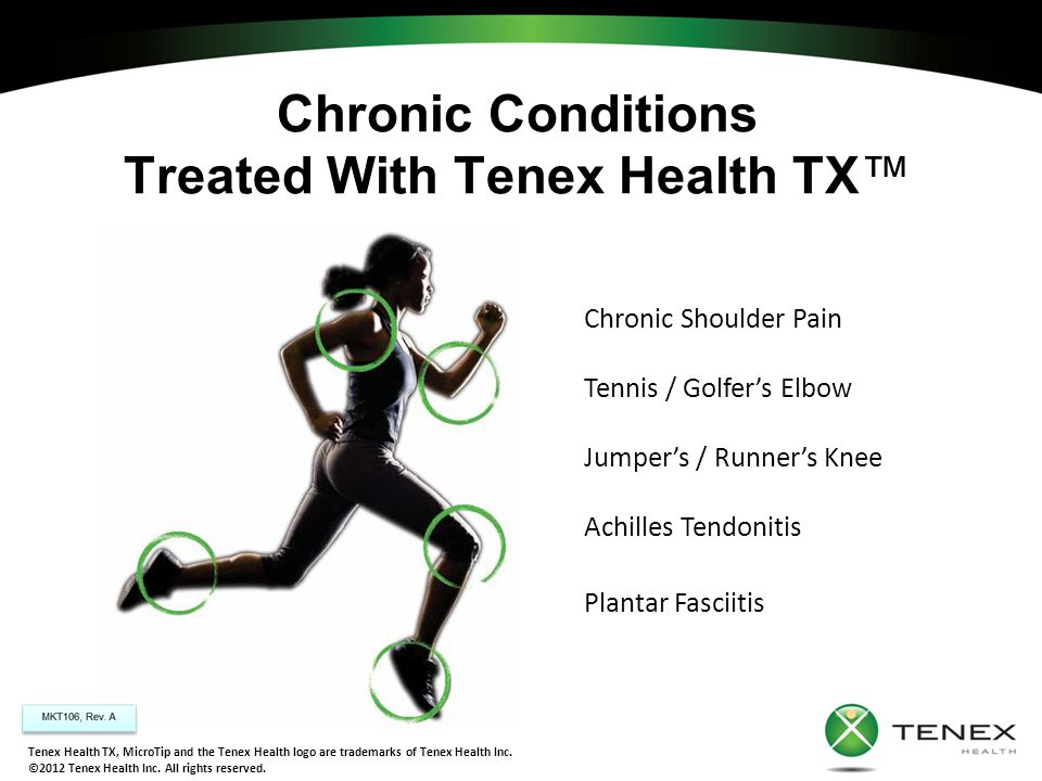 Chronic Conditions Treated With Tenex Health TX™