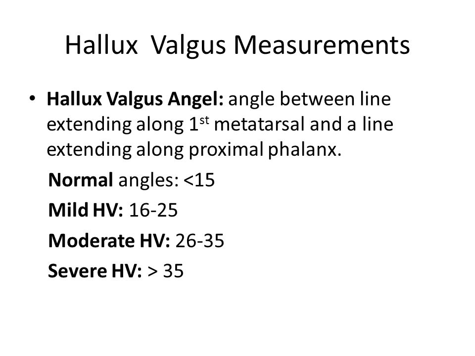 Hallux Valgus Measurements