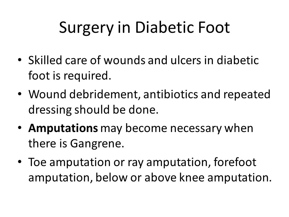 Surgery in Diabetic Foot