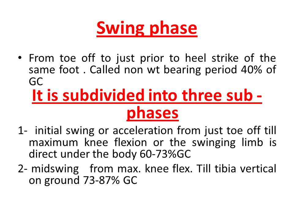 It is subdivided into three sub -phases