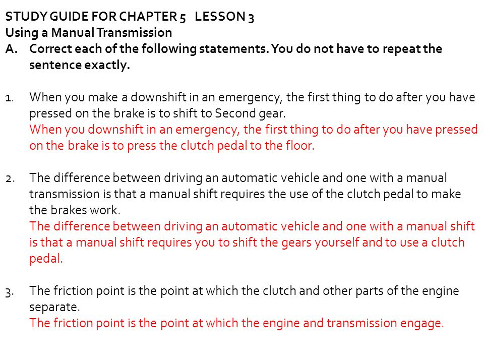STUDY GUIDE FOR CHAPTER 5 LESSON 3