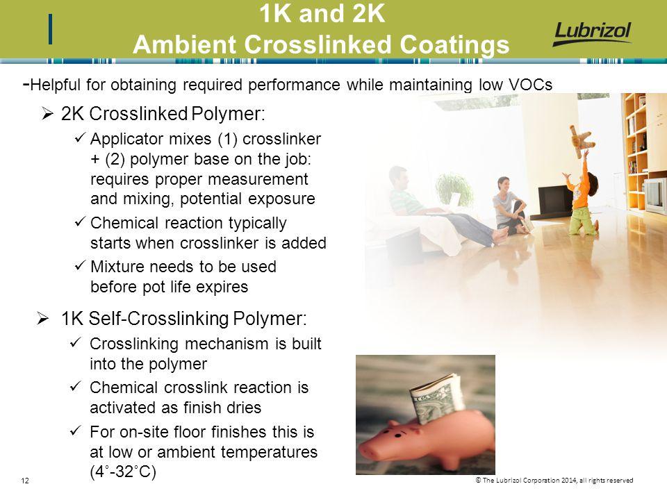 1K and 2K Ambient Crosslinked Coatings