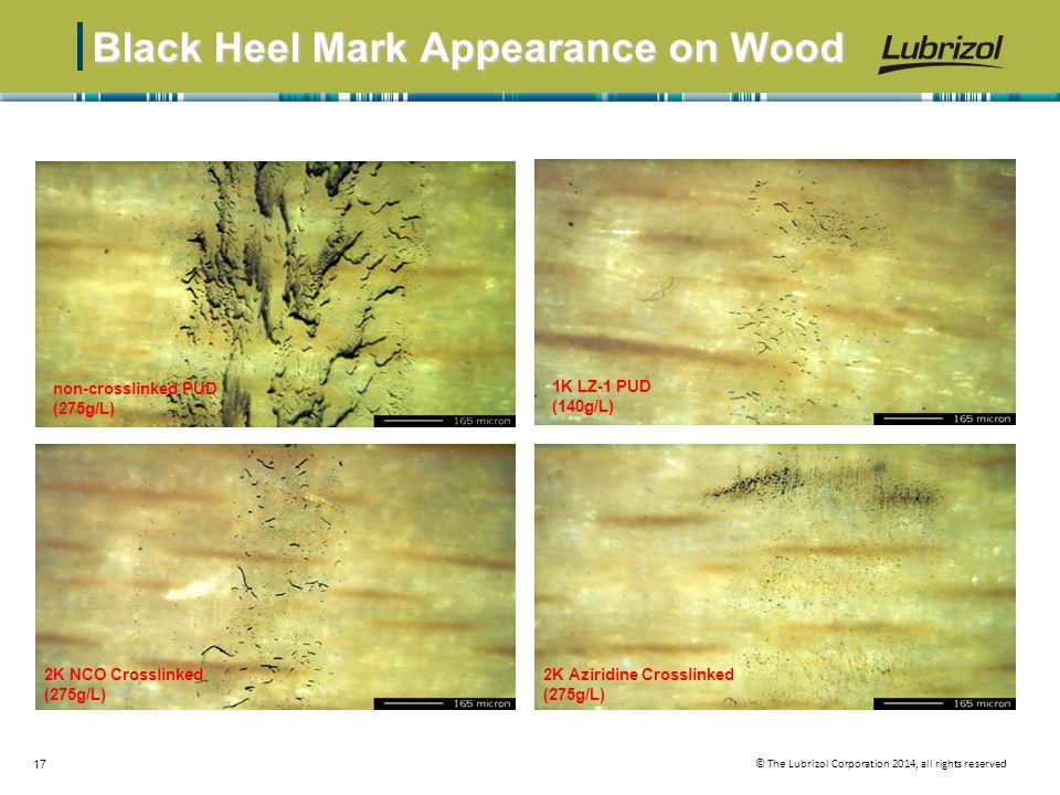 Black Heel Mark Appearance on Wood