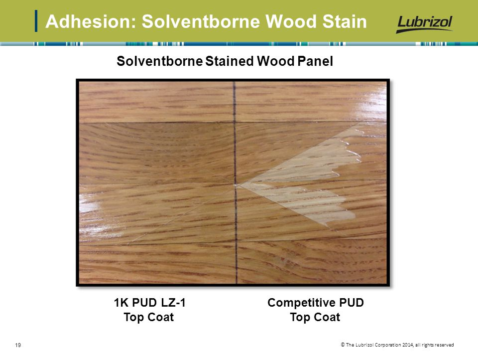 Adhesion: Solventborne Wood Stain