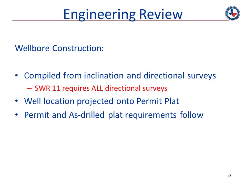 Engineering Review Wellbore Construction: