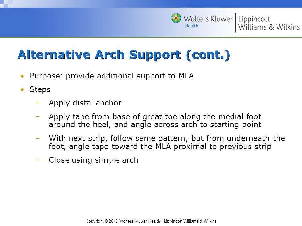 Alternative Arch Support (cont.)