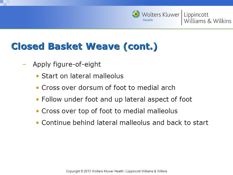 Closed Basket Weave (cont.)