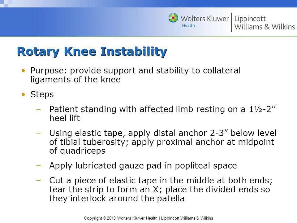 Rotary Knee Instability